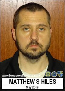 Matthew Scott Hiles a registered Sex Offender of Iowa