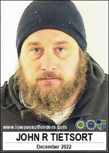 John Raymond Glen Tietsort a registered Sex Offender of Iowa