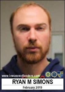 Ryan Michael Simons a registered Sex Offender of Iowa