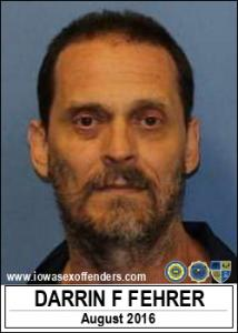 Darrin Frank Fehrer a registered Sex Offender of Iowa