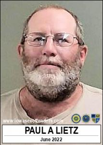 Paul Allen Lietz a registered Sex Offender of Iowa