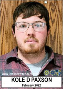 Kole David Paxson a registered Sex Offender of Iowa