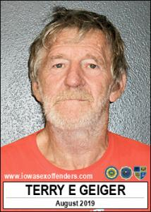 Terry Edward Geiger a registered Sex Offender of Iowa