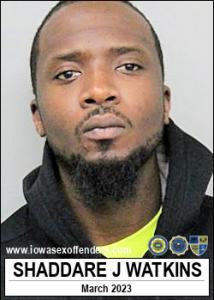 Shaddare Jammal Watkins a registered Sex Offender of Iowa