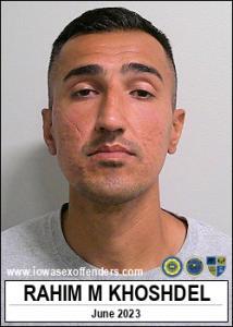 Rahim Mohammad Khoshdel a registered Sex Offender of Iowa