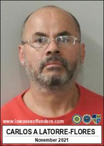 Carlos Arturo Latorre-flores a registered Sex Offender of Iowa