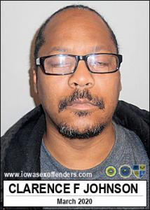 Clarence Frank Johnson a registered Sex Offender of Iowa