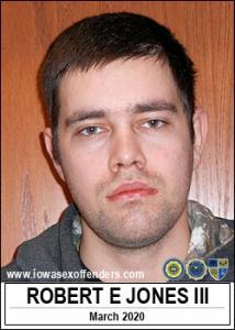 Robert Eugene Jones III a registered Sex Offender of Iowa