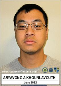Aryavong Aaron Khounlavouth a registered Sex Offender of Iowa