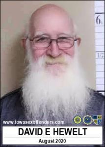 David Elmer Hewelt a registered Sex Offender of Iowa