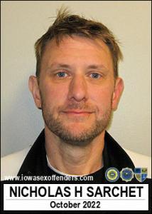 Nicholas Hunington Sarchet a registered Sex Offender of Iowa
