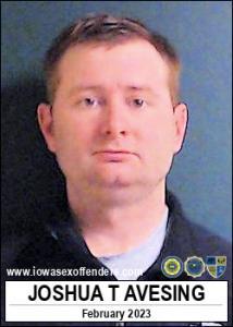 Joshua Thomas Avesing a registered Sex Offender of Iowa