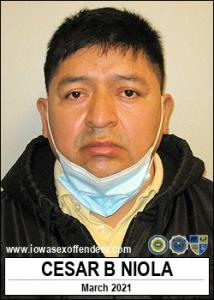 Cesar Barbecho Niola a registered Sex Offender of Iowa