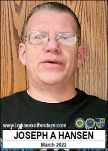 Joseph Adam Hansen a registered Sex Offender of Iowa