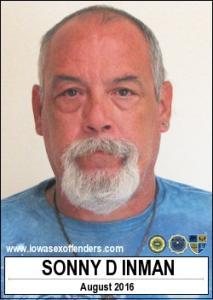 Sonny Dean Inman a registered Sex Offender of Iowa