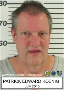 Patrick Edward Koenig a registered Sex Offender of Iowa