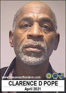 Clarence Duane Pope a registered Sex Offender of Iowa