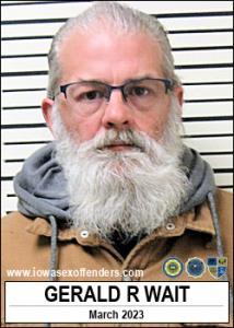 Gerald Rae Wait a registered Sex Offender of Iowa