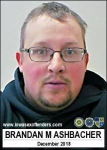 Brandan Michael Ashbacher a registered Sex Offender of Iowa