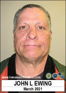 John Lilbourne Ewing a registered Sex Offender of Iowa
