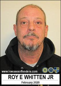 Roy Edward Whitten Jr a registered Sex Offender of Iowa