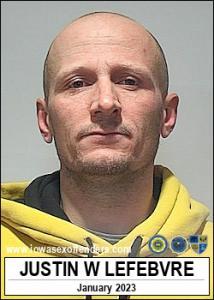 Justin Wyatt Lefebvre a registered Sex Offender of Iowa