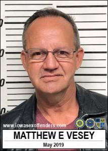 Matthew Everett Vesey a registered Sex Offender of Iowa