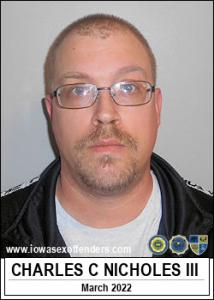 Charles Craig Nicholes III a registered Sex Offender of Iowa