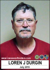 Loren Joseph Durgin a registered Sex Offender of Iowa
