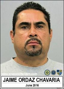 Jaime Ordazchavaria a registered Sex Offender of Iowa