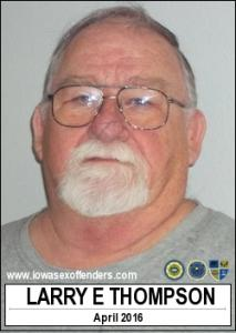 Larry Earl Thompson a registered Sex Offender of Iowa