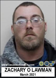 Zachary Owen Lawman a registered Sex Offender of Iowa
