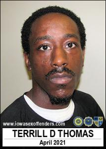 Terrill Deandre Thomas a registered Sex Offender of Iowa